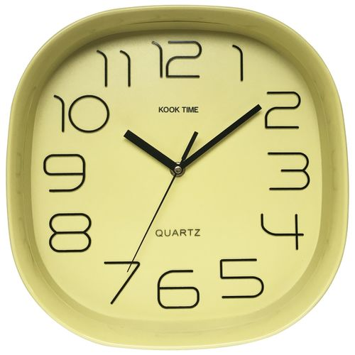 Reloj pared Retro Cuadrado nordic lime