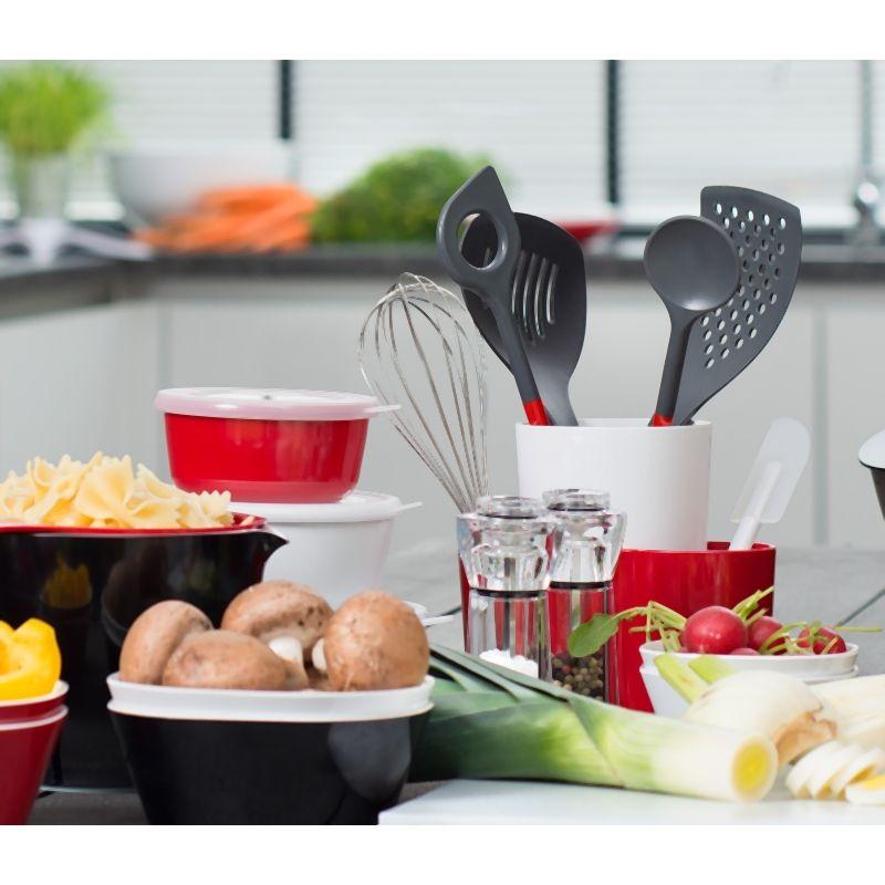 Organizador de utensilios negro for Organizador utensilios cocina