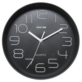 Reloj pared Retro Redondo negro